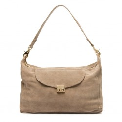 Depeche Medium Suede Bag Sand