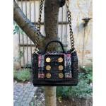 Kooreloo Petite Shoulder Bag - Manhattan Black/Tweed Red/Blue