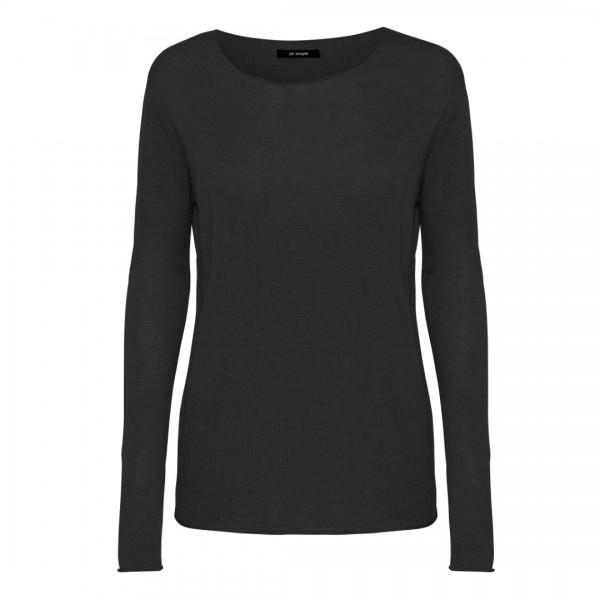 Oh Simple Black Silk Cashmere LS Knit