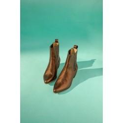 2885ad5f Ivylee Bailey Ankle Boot Cracked Metallic Bronze